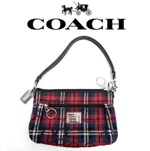 "Coach - ""Poppy"" wristlet, tartan plaid"